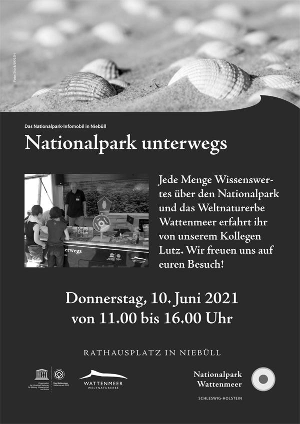 Infomobil des Nationalpark Wattenmeer macht am 10. Juni in Niebüll Station